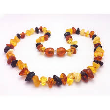 teething bead necklace images Baltic amber baby teething necklace mixed color chips beads jpg