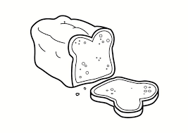 Coloring Page Bread Img 23323 Bread Coloring Page