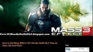 get free mass effect 3 n7 hoodie dlc xbox 360 ps3