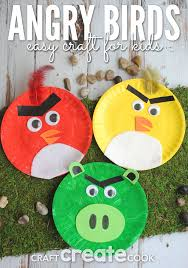 craft create cook angry birds paper plate kids craft craft