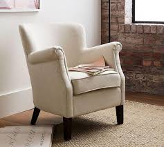 Upholstered Armchair by Soma Petite Minna Roll Arm Upholstered Armchair Pottery Barn Au
