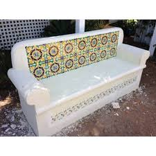 project meets concrete seat and spanish tiles