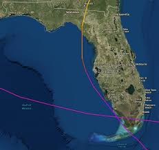 satellite map of florida see every florida s path for the past 100 years