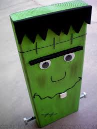 Frankenstein Door Decoration Meet Mr Block Head Franky Craft O Maniac