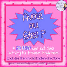 avoir être french verbs notes and worksheet present tense tpt