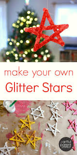 glitter stars a simple christmas craft for kids or adults to make