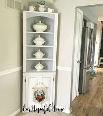 how to make chalk paint for cabinets our hopeful home diy chalk paint corner cabinet styled with
