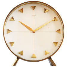 modern desk clock junghans table or desk clock from 1960s at 1stdibs