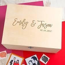 personalised keepsake box wooden personalised keepsake box couples gifts memory box