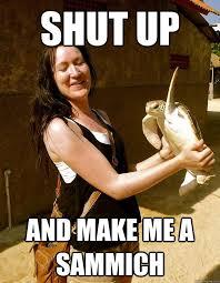 Make Me A Sandwich Meme - shut up and make me a sammich domestic violence turtle quickmeme