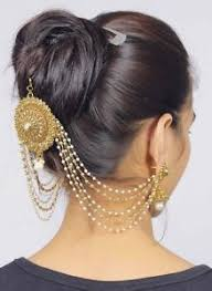 hp 12 indian ethnic pearl made hair jewelry bridal hair