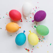 Homemade Easter Decorations Uk by Balloon Easter Eggs A Joyful Riot