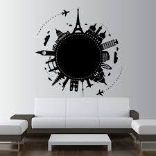 Art Decor Designs Wall Decal Vinyl Sticker Art Decor Design World Country City Paris