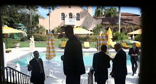 is trump at mar a lago trump s mar a lago getaway could cost taxpayers more than 3 million