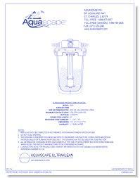 Aquascape Inc Aquascape Ultraklean Aquascape Inc Caddetails