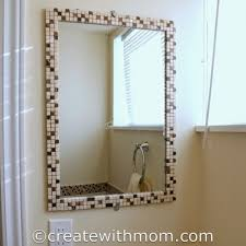 bathroom decorative mirror 9 cool and simple diy bathroom mirrors to make shelterness