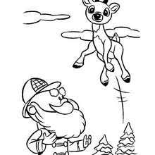 rudolph red nosed reindeer coloring pages hellokids