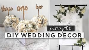 simple diy wedding decor centerpieces signs party favours