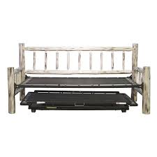 Daybeds With Trundles Log Daybed With Pop Up Trundle Frame Design Decofurnish