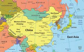 Blank Map Of Europe And Asia by Map Of East Asia The Countries Are China Russia Japan North