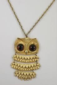 gold owl pendant necklace images Goldette owl pendant necklace at 1stdibs jpg