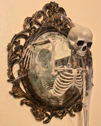 Halloween Posable Skeleton Skeleton Mirror Diy Halloween Decoration Myart Pinterest Diy