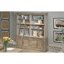 furniture home library bookcase w ladder cabinets shabby chic 4
