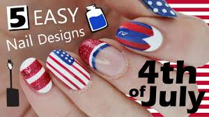 five in five easy fourth of july nail art nailed it nz youtube