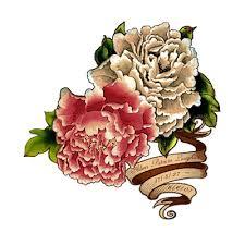 peony flower tattoo angel lfall