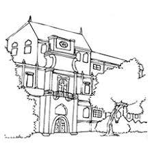 20 free printable house coloring pages