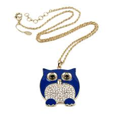 crystal owl pendant necklace images Chubby owl pendant shop amrita singh jewelry