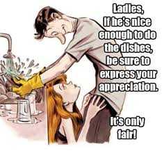 Washing Dishes Meme - guess who s doing the dishes imgur