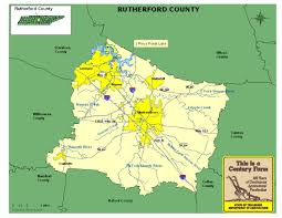 Map Of Middle Tennessee by Rutherford County Tennessee Century Farms