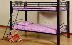 Wood And Metal Bunk Beds Detachable Wood And Metal Bunk Bed Furniture Mattress Direct