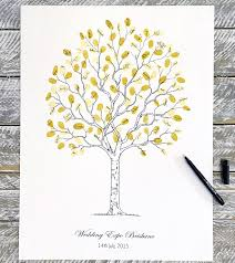 wedding trees fingerprint guest book tree contemporary tree design weddings etc