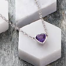 amethyst necklace silver images Amethyst necklace by wue jpg