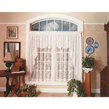 White Lace Window Valances Heritage Lace Window Treatments The Home Depot