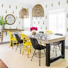 Yellow Dining Room Chairs 40 Top Designer Dining Rooms Hgtv