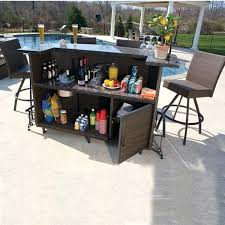 High Table Patio Furniture Outside Patio Bar Sets Outdoor Furniture Bar Height Table And