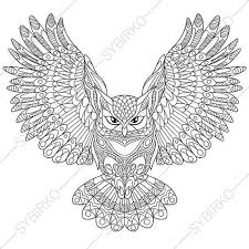 coloring page for adults owl owl adult coloring book page zentangle doodle coloring pages