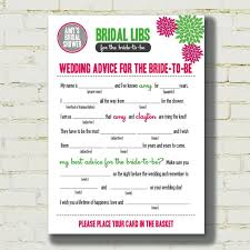 bridal shower mad lib template vows wedding disney pinterest
