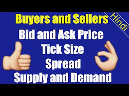ask e bid buyers and sellers bid and ask price spread tick pip size