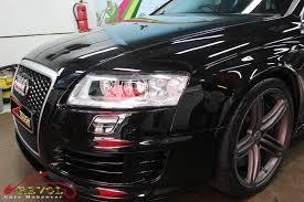 audi rs6 headlights audi rs6 with zetough ceramic paint protection coating revol car