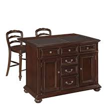 home styles colonial classic dark cherry kitchen island with