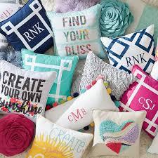 ribbon trim ribbon trim monogram pillow cover pbteen