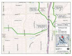 Dallas Dart Train Map by Major Linear Trails Dallas Parks Tx Official Website
