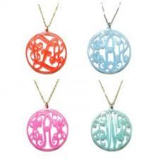 monogram acrylic necklace jc jewelry design monogram necklaces sted jewelry