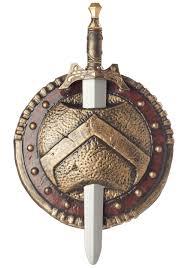 Ares Halloween Costume Spartan Shield Sword