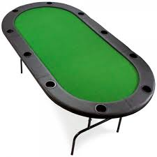 10 Player Poker Table With Metal Frame The Chip Cave