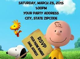 charlie brown birthday invitations gallery invitation design ideas